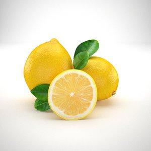 lemon fruit 3D