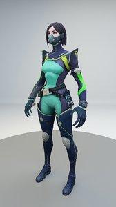 valorant viper 3D model
