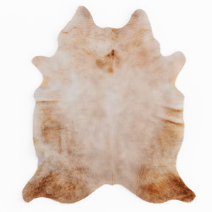 champagne color natural cowhide model
