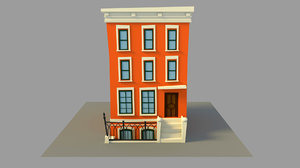 3D building cartoon