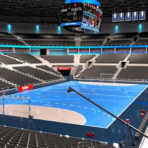 handball arena ball 3D model