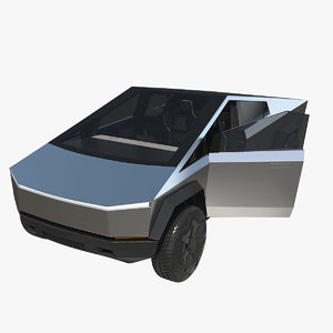tesla cybertruck pickup truck 3D model