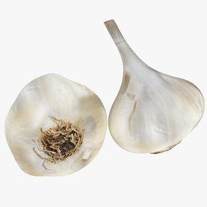 3D model garlic food vegetable