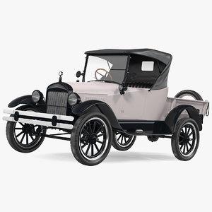 classic vintage 20s roadster 3D