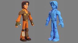 3D character - cartoon ezra model