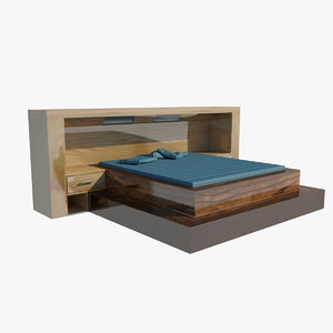 3D luxury bed backrest