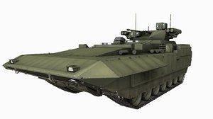 t15 russian armata games 3D model