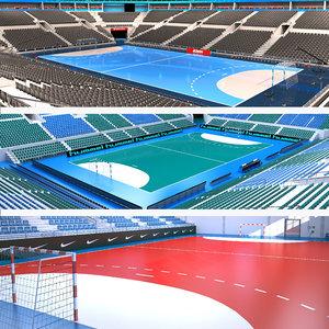 handball arenas 2 3D model