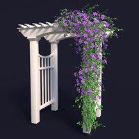 Garden Arch No. 1 with clematis