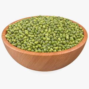 bowl mung beans 3D model