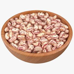 bowl roman beans 3D