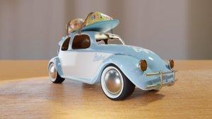 3D toy travel car 01