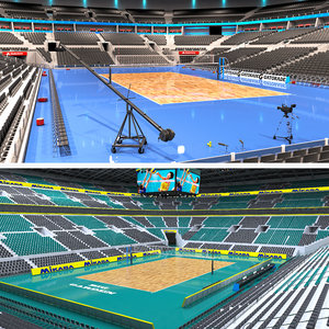 volleyball stadiums 2 3D model