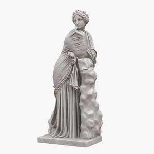 polyhymnia statue 3D