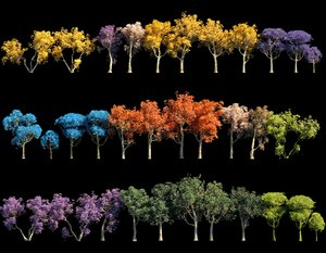 spring trees pack 3D