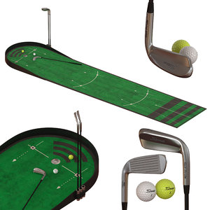 3D home mini golf model