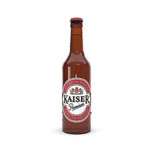 modeled kaiser bottle 3D model
