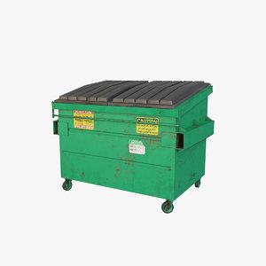 3D dumpster v1 model