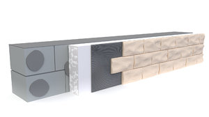 3D wall decorative stone model