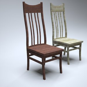 3D chair kitchens model
