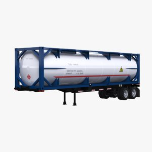 3D spec iso tank trailer model