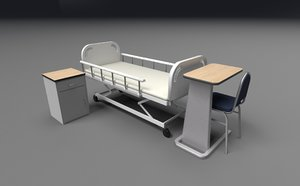 bed hospital 3D