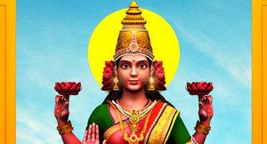 3D god lakshmi