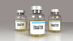 vaccine covid-19 bottle 3D model