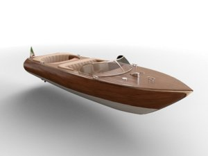 3D luxury boat model