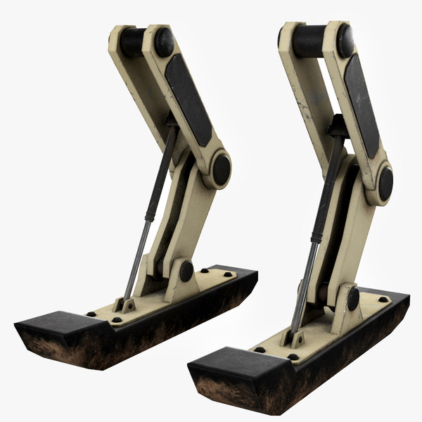 sci fi dropship landing gear 3D model