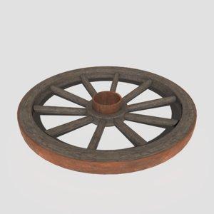 pbr cart wheel 3D model