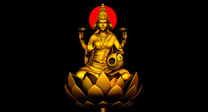 3D gold god lakshmi model