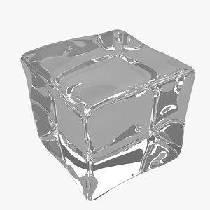 acrylic ice cube 3D model
