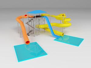 waterpark modelled 3D