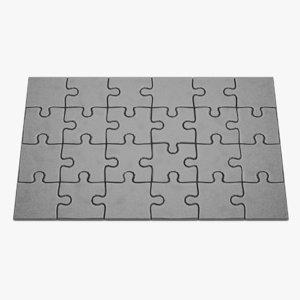 3D model puzzle images pbr