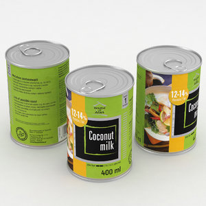 3D food coconut milk