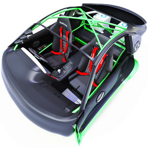 3D toyota supra rz interior