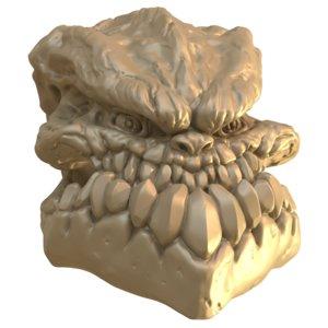 groll skull creature 3D