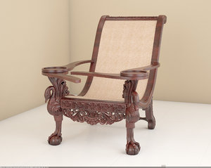 3D carving chair