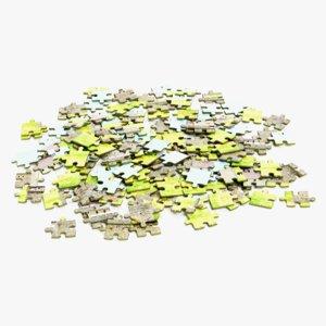 3D pile puzzles model
