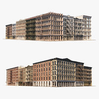 Photorealistic NYC Soho Block