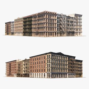 soho city block architecture 3D model