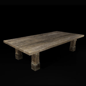 3D medieval rough table model