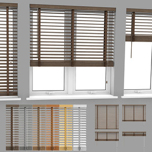3D wood blinds venetian 2