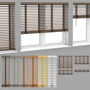 wood blinds venetian 1 3D
