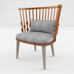 3D andreu world nub arm chair