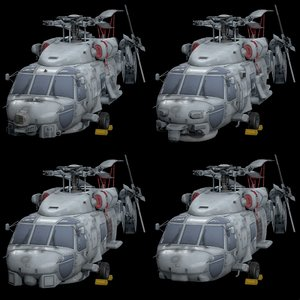 sikorsky sea hawk pack 3D model