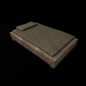 medieval bunk 3D model