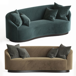 petite curved sofa model