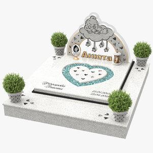 kids headstone model